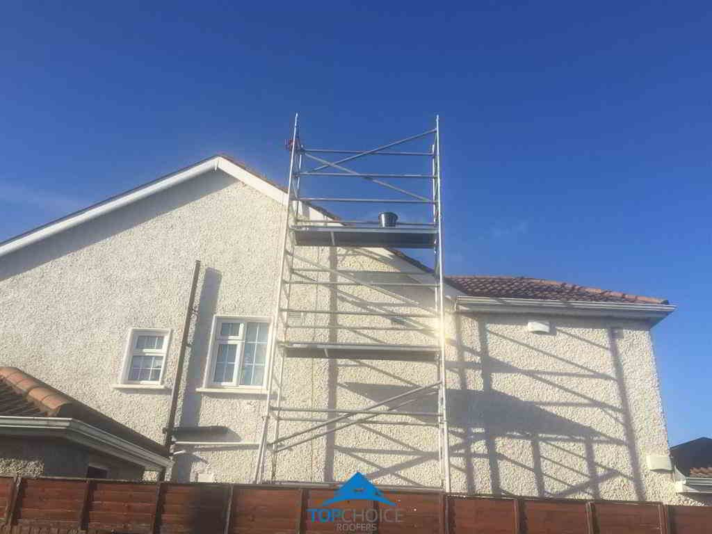 Scaffolding Required For Roof Repair in Dublin