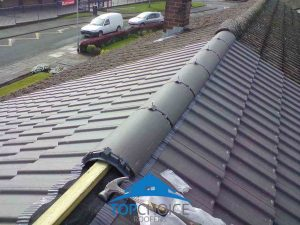 During installation of a new roof ridge in Dublin