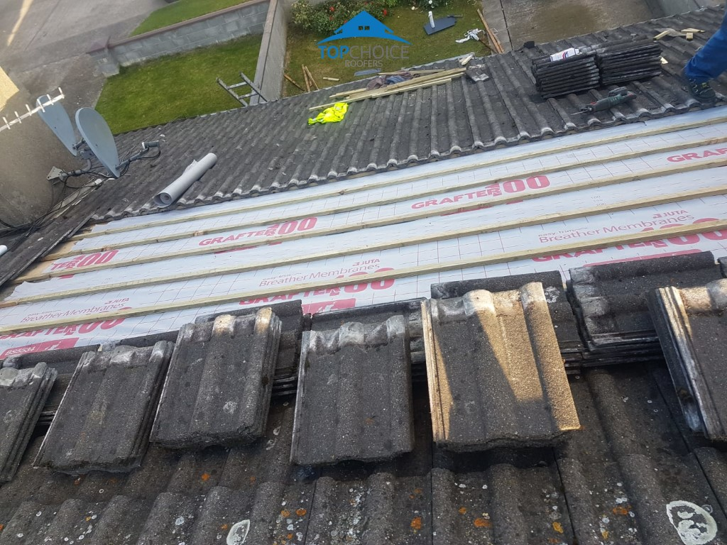 Damaged Underlay And Loose Tile Repair In Dublin Roofing
