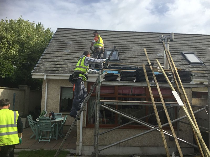 Leaking Roof Being Repaired