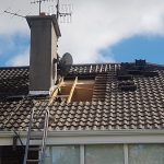 pitch roof being repaired in Dublin area