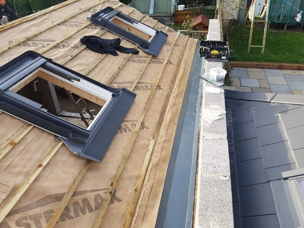 New skylight and repairs to a roof