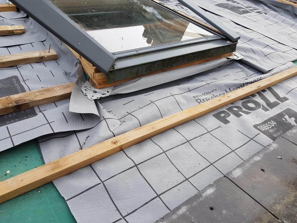 Roofing Underlay Being installed