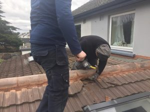 Our Roofing Contractor Fixing A Roof